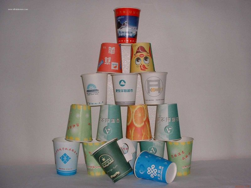 20oz disposable cold drink paper cup paper glass