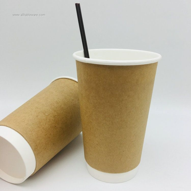 Disposable Customized Biodegradable Double Wall Paper Cup With Lid food grade paper cup paper cup with lid