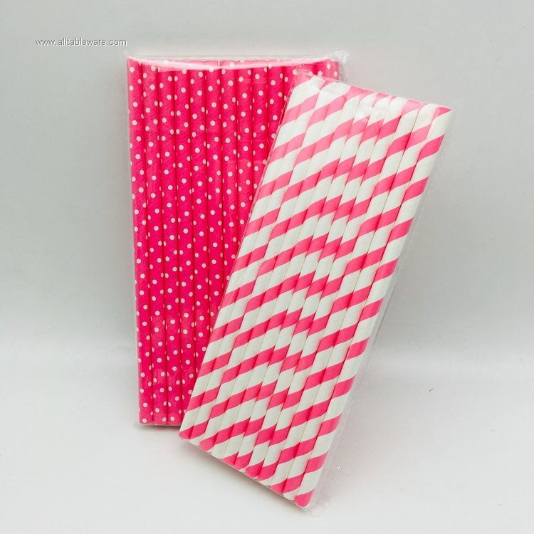 Birthday Party Decoration Drinking Straws Paper Straws
