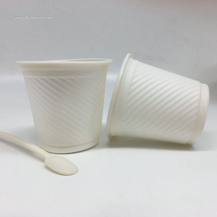 260ml Disposable Corn Starch 100% Biodigradable Coffee Cup
