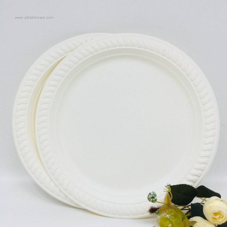 Compostable biodegradable dinner plate corn starch plate