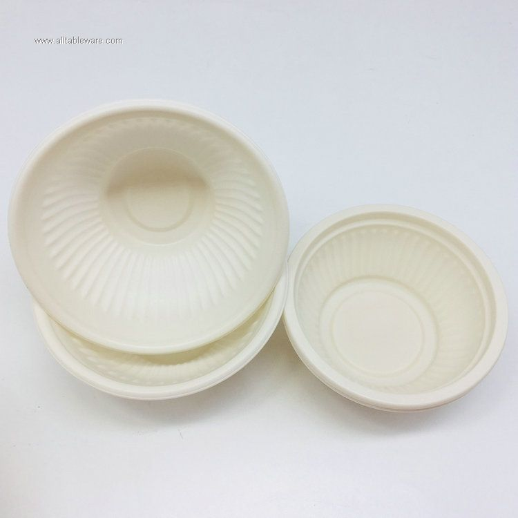 Corn starch biodegradable disposable microwaveable food bowl