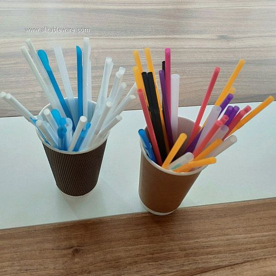 Reusable Clear Glass Drinking PLA Straws for Hot Drinks