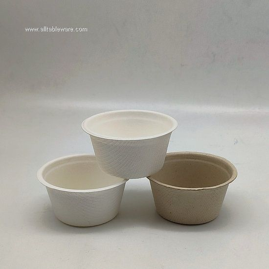 55ml 100% biodegradable disposable bagasse sugarcane pulp cup