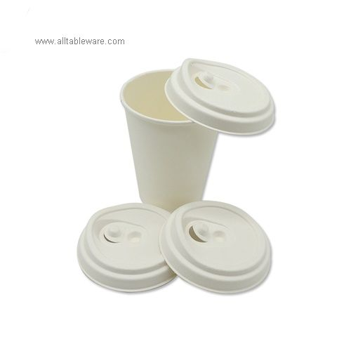 China Supplier Biodegradable Disposable Bagasse Sugarcane Paper Coffee Cup Lid