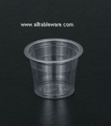 disposable PET plastic drinking cup