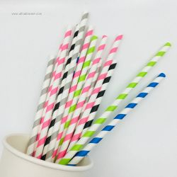 Eco-Friendly Biodegradable Disposable Drinking Festival Decoration Paper Straw