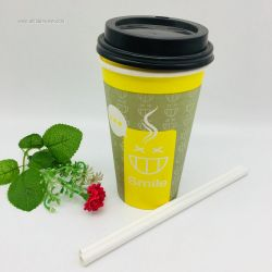Printing Disposable Single Wall Paper Hot Tea/Coffee Cup for Drink