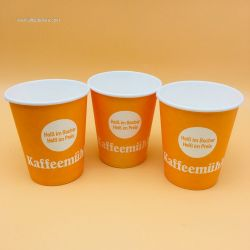 Disposable Take Away Hot Cold Coffee Drinking Single Wall Paper Cup