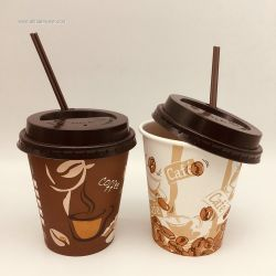 Colorful Printing Paper Cups Single Wall Coffee Cups