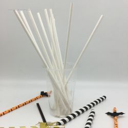 Customize White Paper Straws Party Supplies