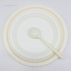 Disposable Corn Starch Biodegradable Dinnerware Lunch Plate