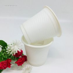 180ml Compostable Corn Starch Cup Disposable Coffee Mugs