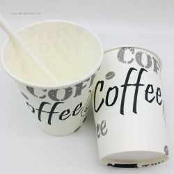 Single Wall Disposable Paper Cup for Hot Drinks