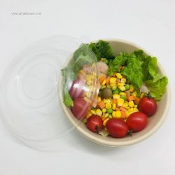 850ml Biodegradable Paper Food Lunch Salad Bowl with Lid