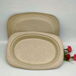 Small Disposable Cutlery Compostable Wedding Oval Plates On Sale