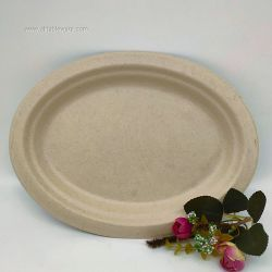 Large Biodegradable Oval Plate On Sale