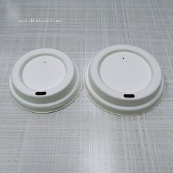 100% Biodegradable Compostable Disposable Sugarcane Bagasse Paper Cup Lid