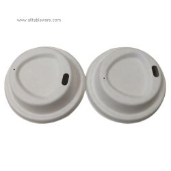 High Quality Eco Freindly Biodegradable Disposable Sugarcane Paper Cup Lid